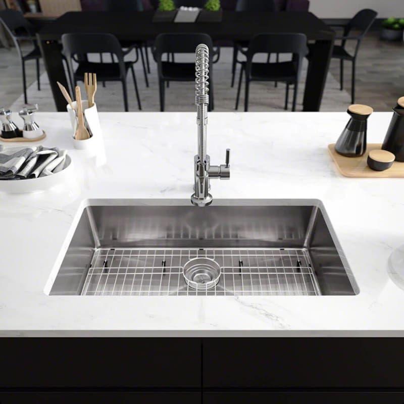Elkay R1 1022 S Installed View In Full Size Undermount Kitchen
