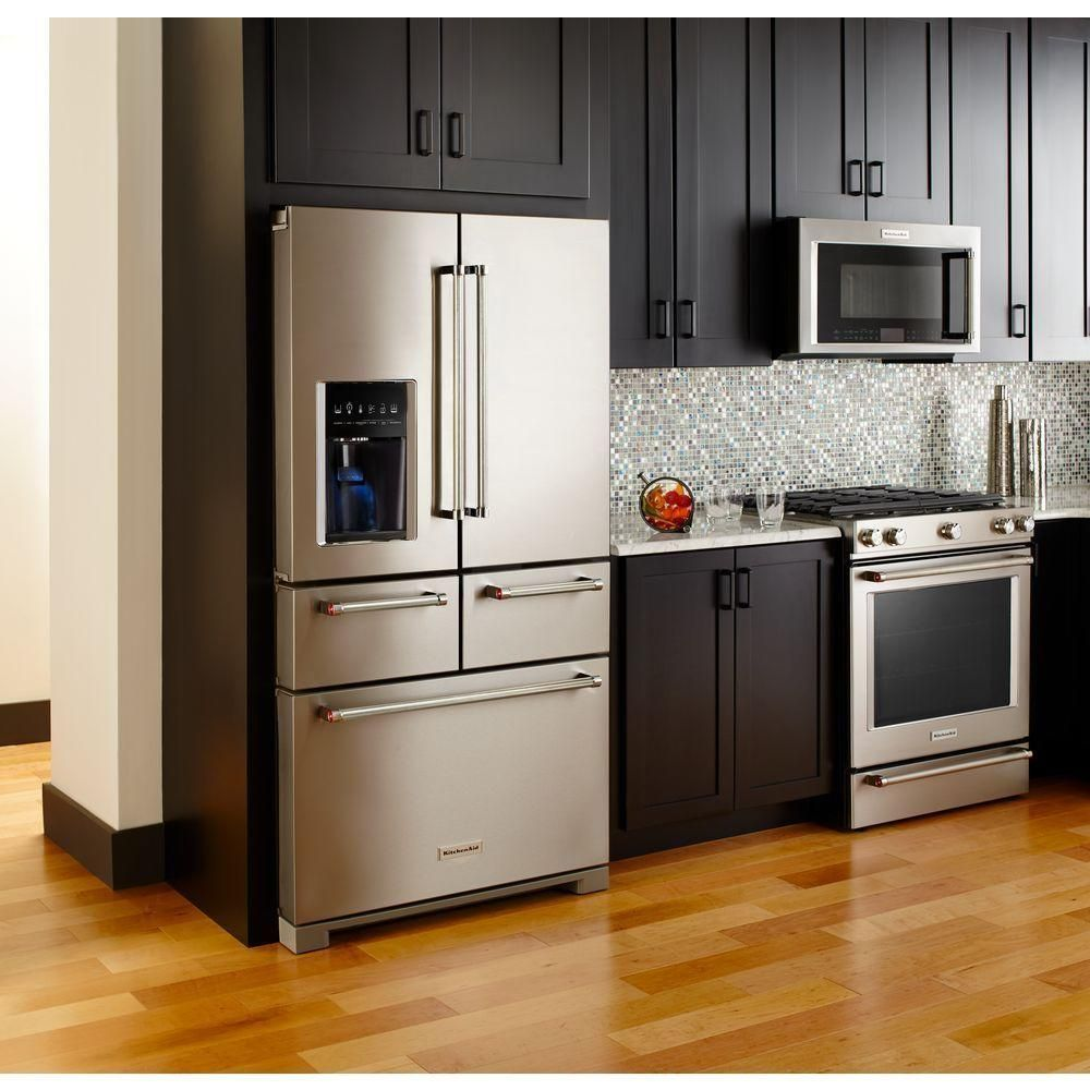 Small Kitchen Home Depot: KitchenAid 25.8 Cu. Ft. French Door Refrigerator In