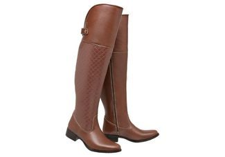 5968dd7ce6 Bota Mega Boots Over The Knee Bege - Compre Agora