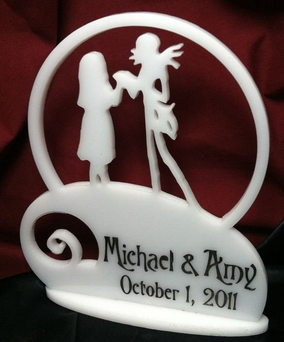 NBX Nightmare Before Christmas Cake Topper Personalized | Wedding ...