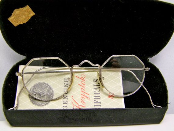 Antique American Optical  1910 to 1920s Eyeglasses  Frames  Rare,with case