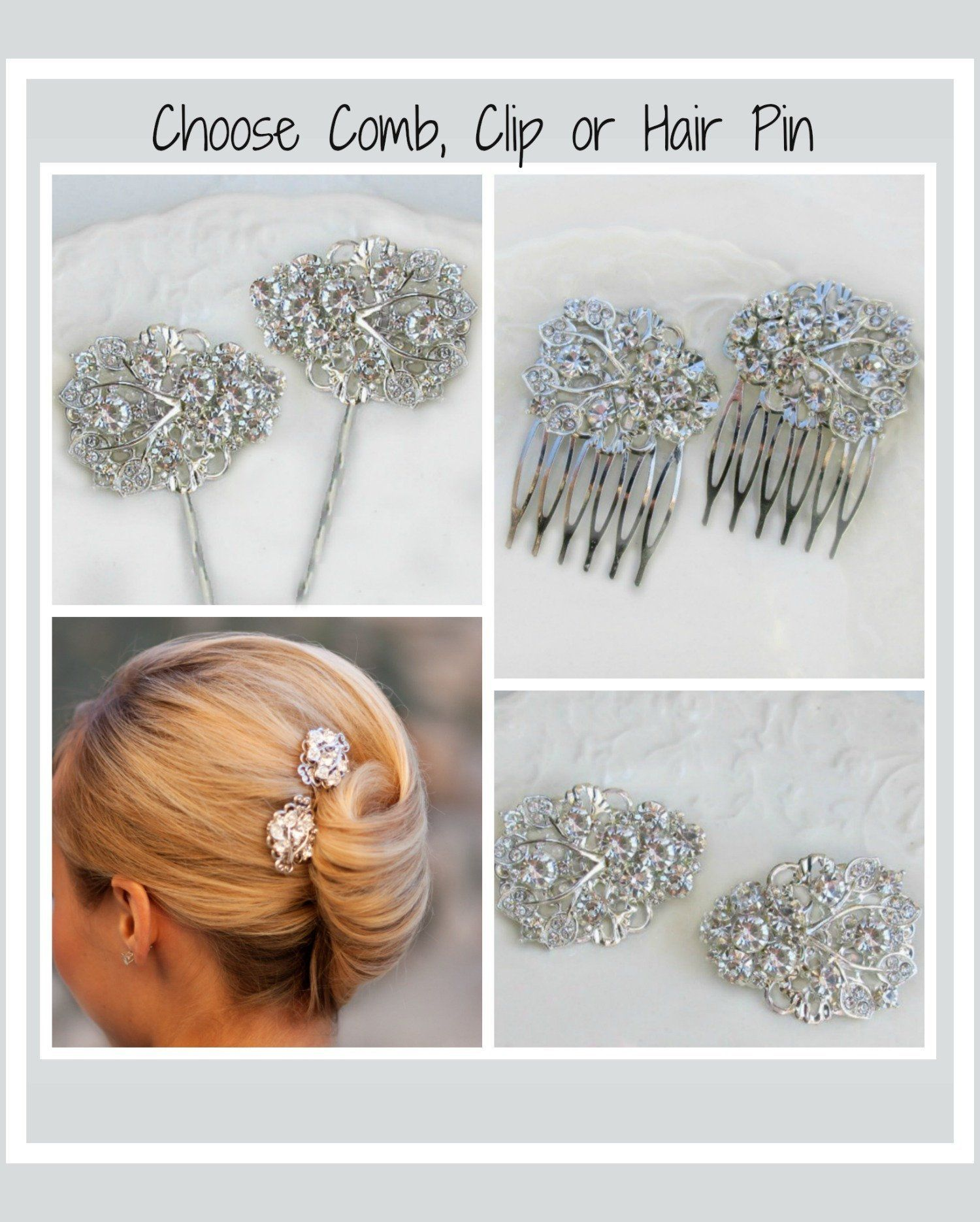 image 0 | the best etsy wedding shops | wedding hair clips