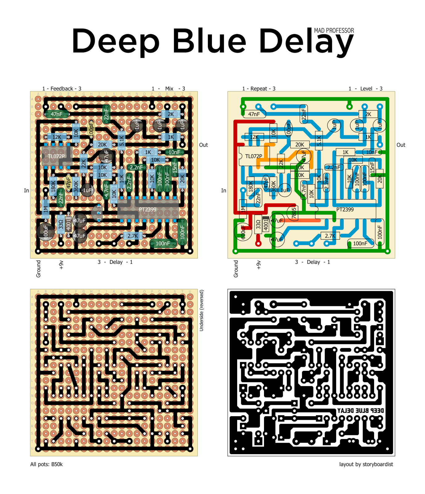 B B D Aef Af E F on Digital Delay Pedal Schematic
