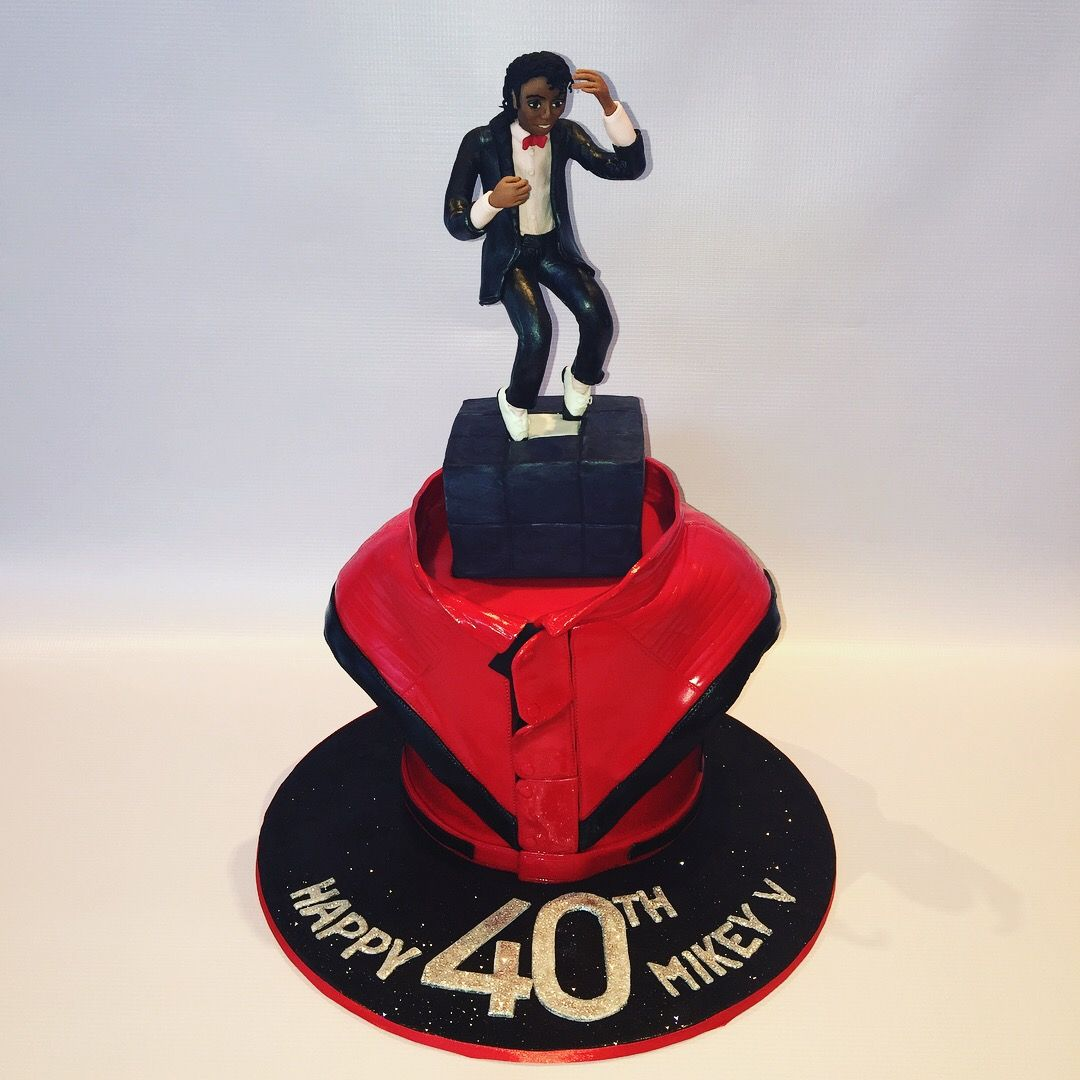 Michael Jackson Inspired 40th Birthday Cake Featuring Mj Dancing