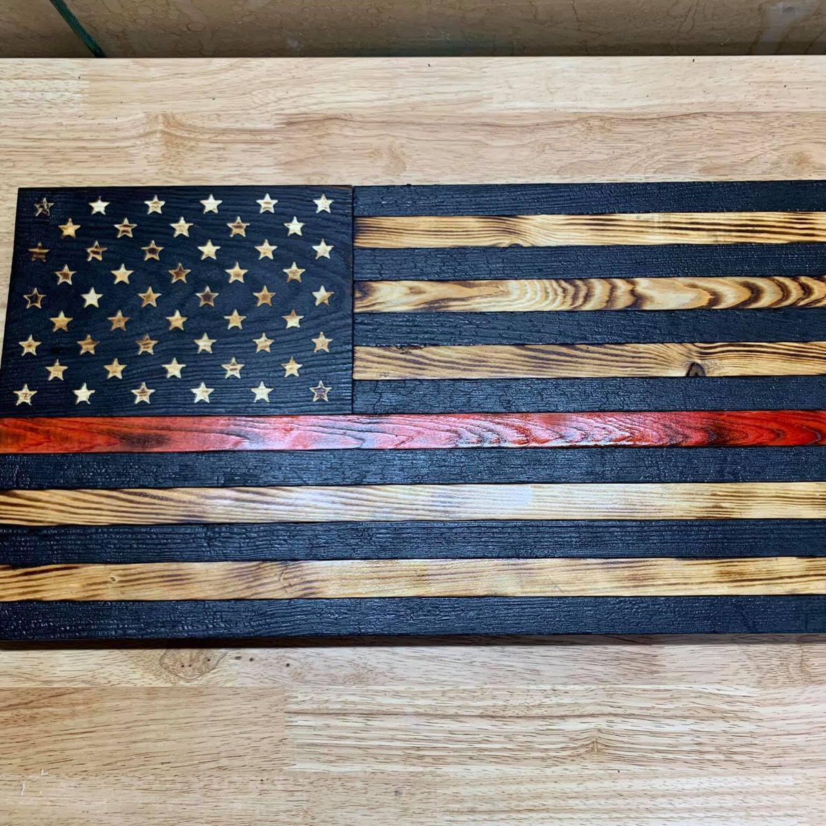 American flag stencil distressed wooden flag stars cnc steel 50 stars 7x9.88