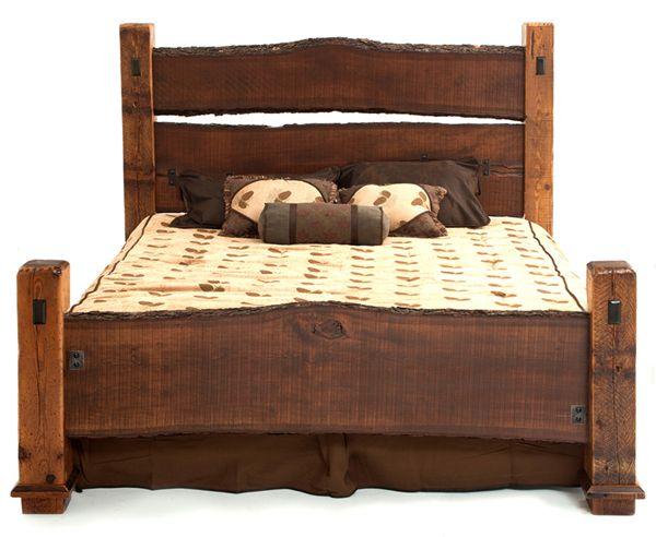 Barnwood Furniture Rustic Furnishings Log Bed Cabin