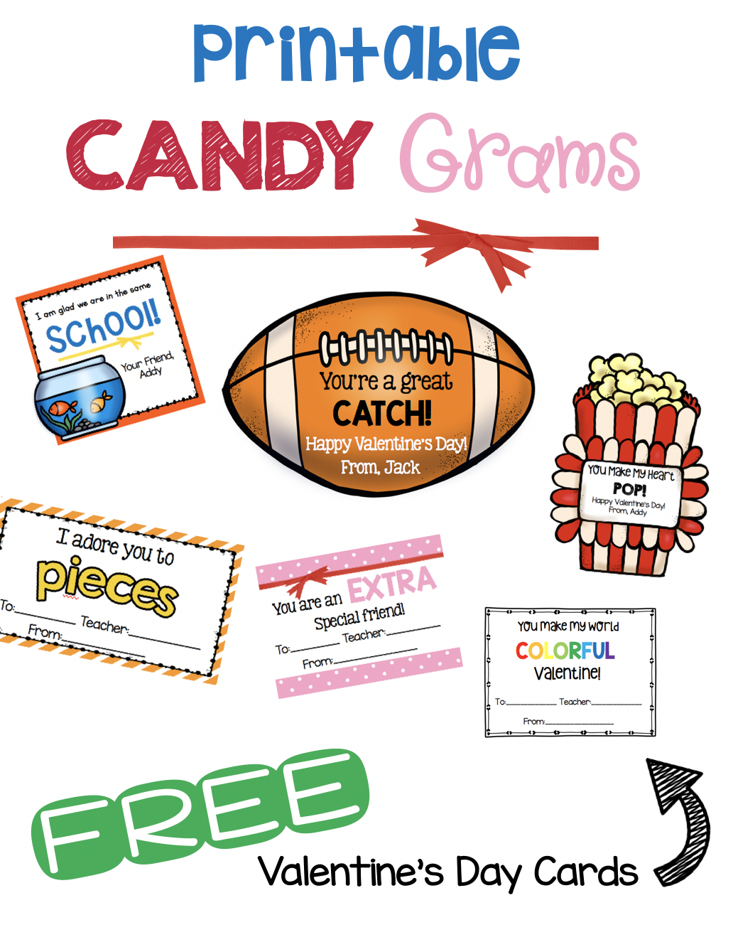 Valentine S Day Free Cards And Candy Grams