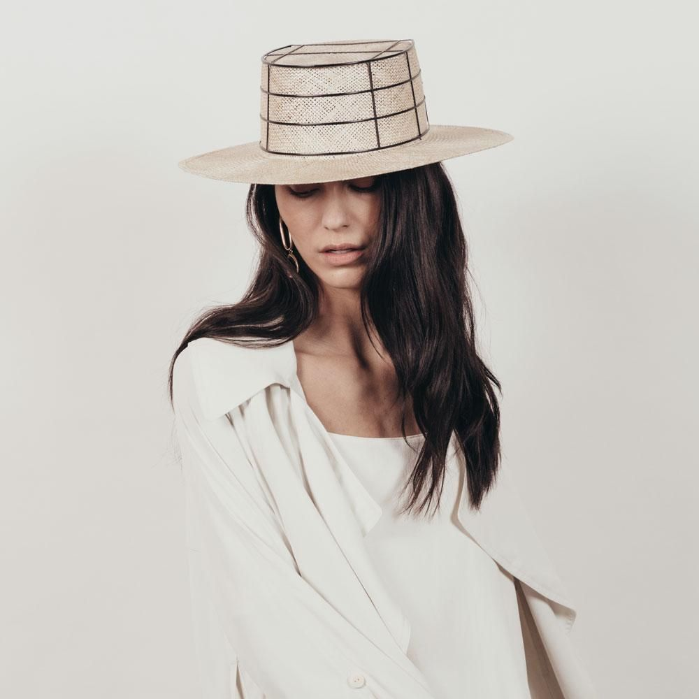 75d69350e59e61 Laird by Janessa Leone Boater Hat, Beret, Straw Hats, Panama Hat, Cashmere