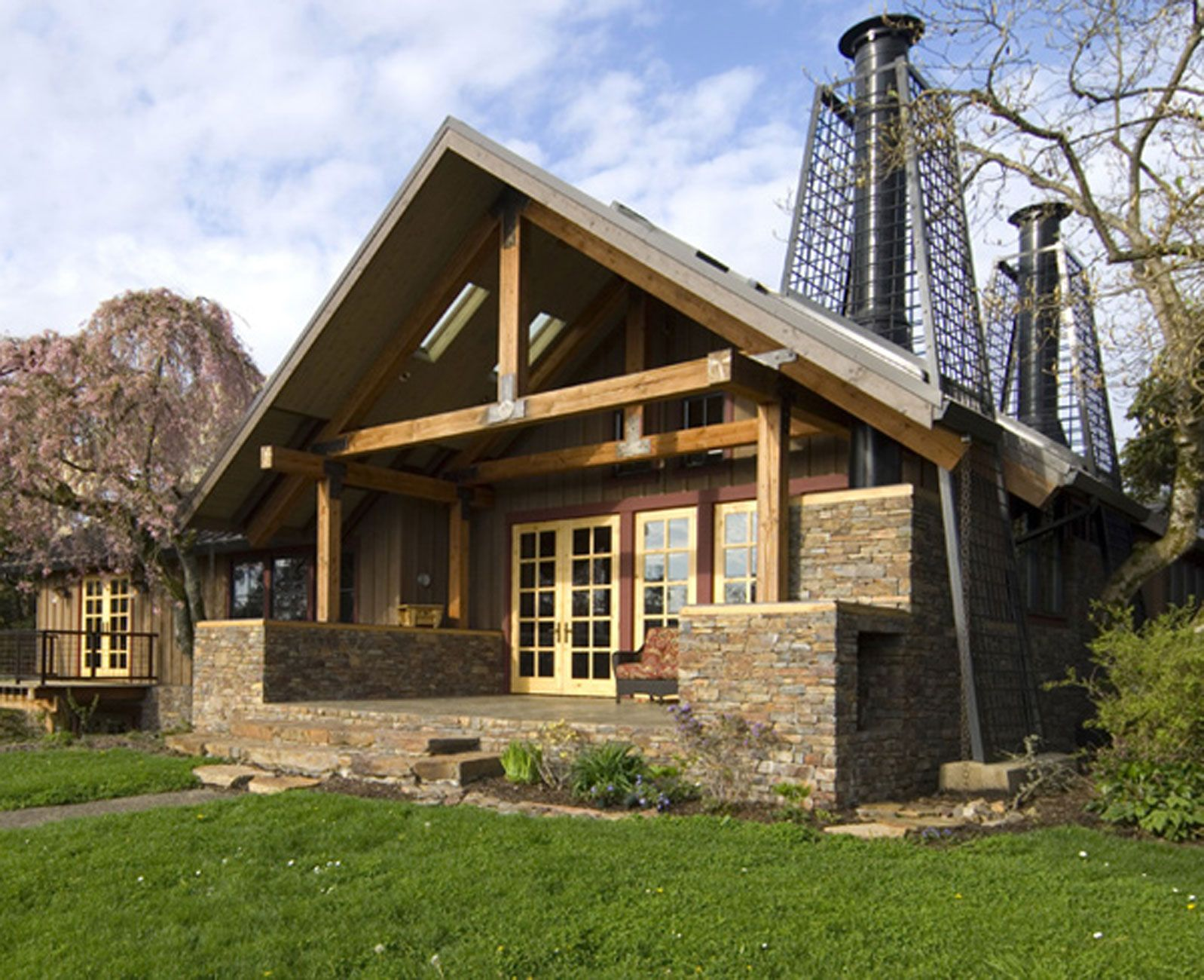 100 Wood And Stone House Rustic Houses Exterior House Designs Exterior Stone House Plans