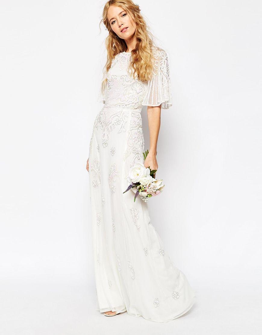 The Affordable ASOS Bridal Collection Is Here Flutter Sleeve - Flutter Sleeve Wedding Dress