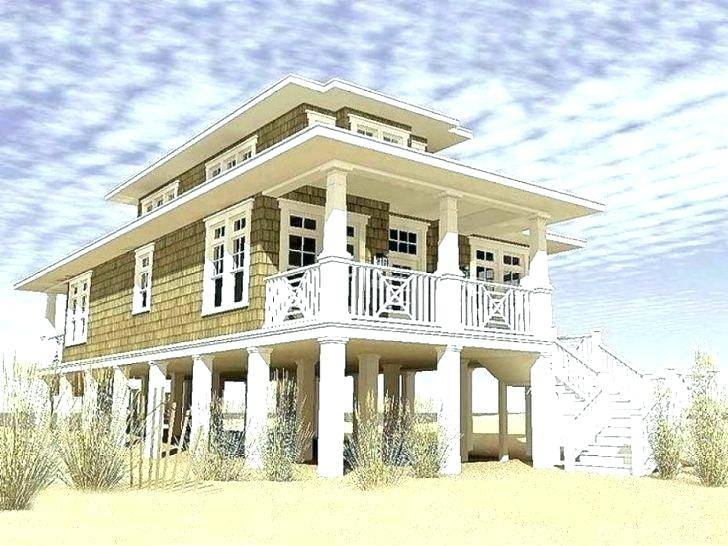 Lake House On Long Narrow Lot Google Search House On Stilts Small Beach House Plans Beach House Floor Plans