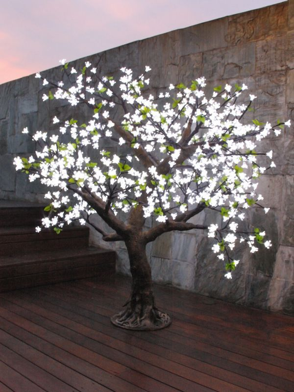 Led Christmas Light Cherry Blossom Tree 480pcs Led Bulbs 1 5m Cherry Blossom Light Tree Christmas Tree With Coloured Lights Outdoor Artificial Christmas Trees