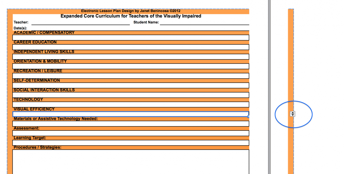 Expanded Core Curriculum Lesson Plan Template Core Curriculum