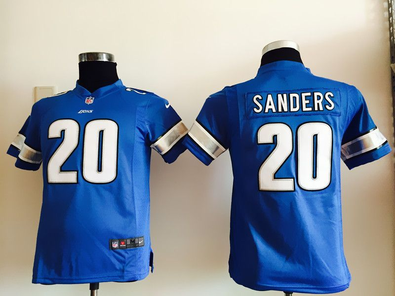 New Youth Detroit Lions 20 Sanders Blue Nike Jerseys | Detroit Lions  free shipping
