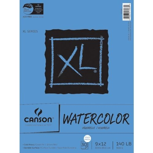 Canson Xl Watercolor Paper 9x12 140lb Pad 726259 Art Pad Mixed