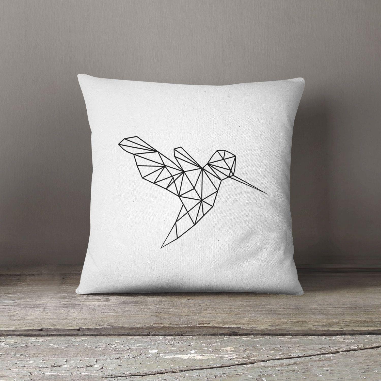New To DesignGenesStudio On Etsy: Modern Minimalist Cushion Monochrome Decor  Hummingbird Home Decor Modern Minimalist