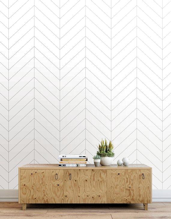Herringbone Wallpaper Peel And Stick Tiles Modern Wallpaper Decoracion De Bano Decoracion Para Salon De Unas Decoracion De Paredes Dormitorio Paneles De Pared