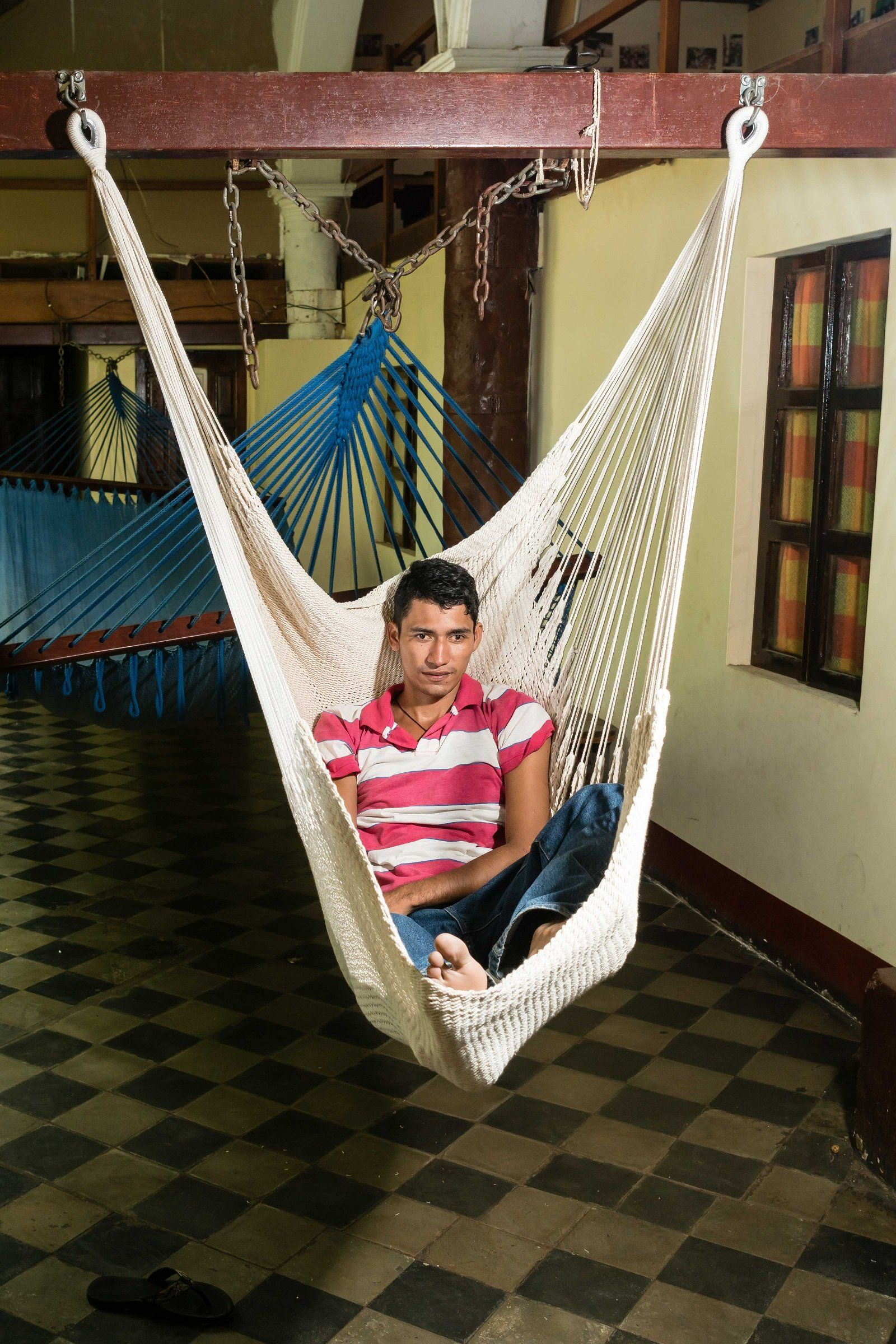 Xl Hanging Hammock Chair Stretch Out Swing Chair No Bar In