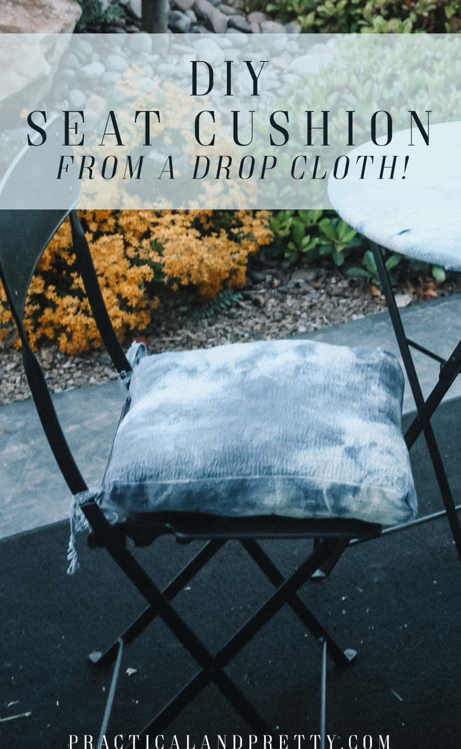 Diy Bistro Patio Cushions With A Drop Cloth In 2020 Sewing