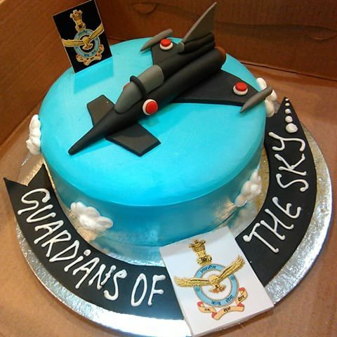 Indian Air Force Officer Lieutinant Birthday Cake Army Sky