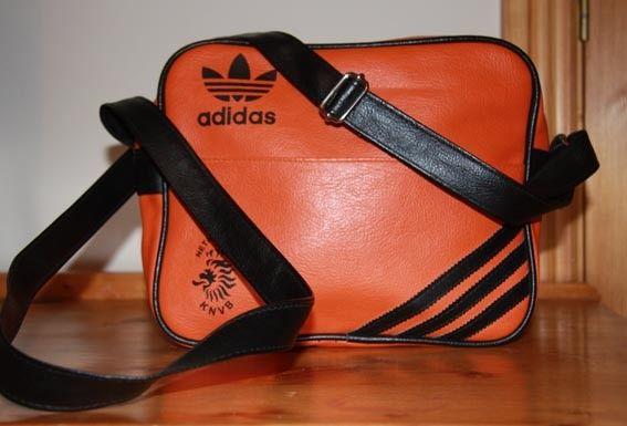 5a6e860d7c6f Vintage Retro Orange Black Adidas Bag by ashocarmody on Etsy