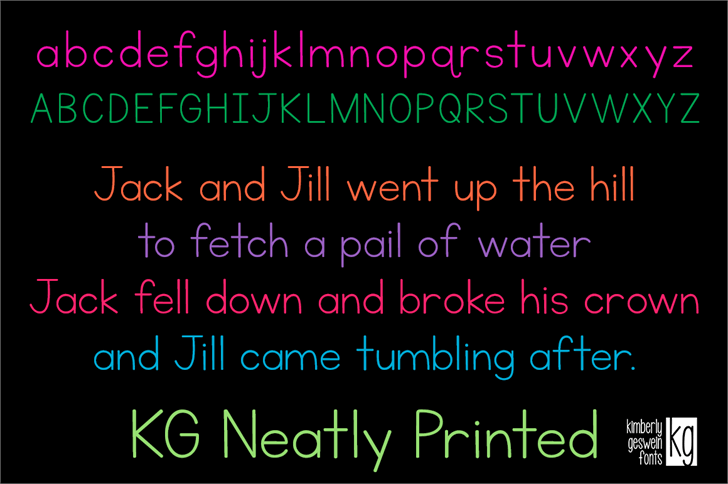 Download KG Neatly Printed Font Family (2 styles) by Kimberly ...