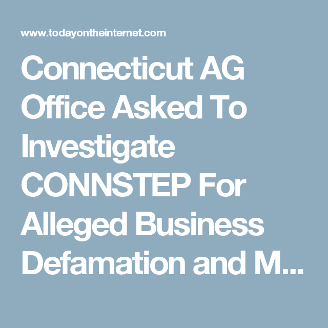 Connecticut Ag Office Asked To Investigate Connstep For Alleged