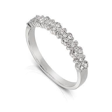 Sortija Tous Fancy en oro blanco 750/000 y diamantes.