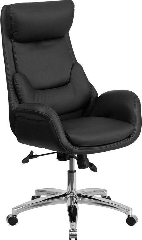 Astonishing Flash Furniture High Back Black Leather Executive Swivel Home Interior And Landscaping Palasignezvosmurscom