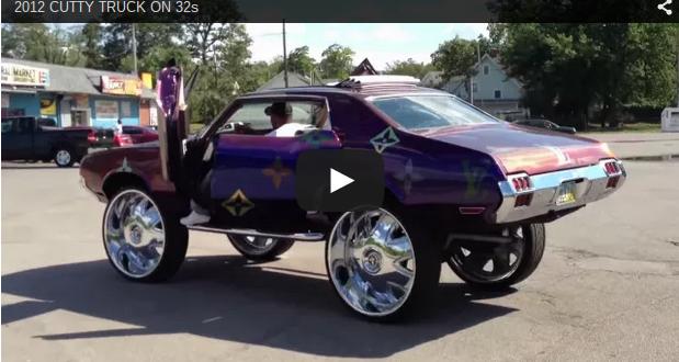 Oldsmobile Cutlass On Big Rims Custom Wheels Pimped Out