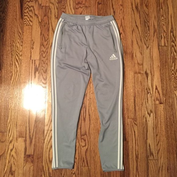 Adidas soccer sweats Women's adidas soccer sweats size medium. They have been worn a lot with signs of wear. There is a catch in the fabric and a few light stains on the front (see pictures). Adidas Pants Track Pants & Joggers
