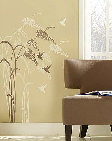 Happy Hour! Wall Stencil | Wall ideas | Pinterest | Stenciling, Wall ...