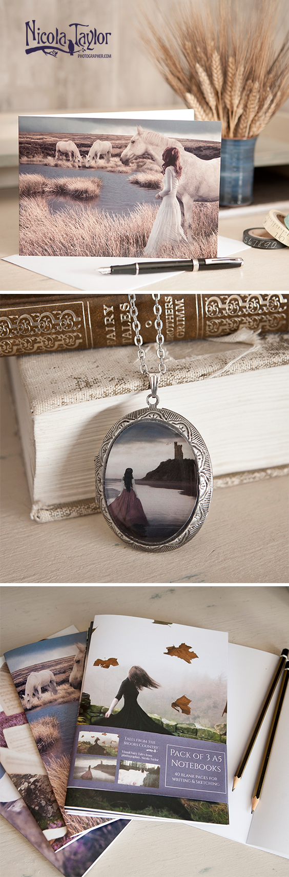 Visual Fairy Tales and Gorgeous  Gifts for Literature Lovers and Romantic Souls from Nicola Taylor Photographer