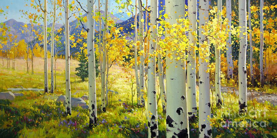 Afternoon Aspen Grove In 2019 Art Painting Oil