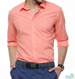 Light peach mens dress shirts manufacturer with discounted price ...