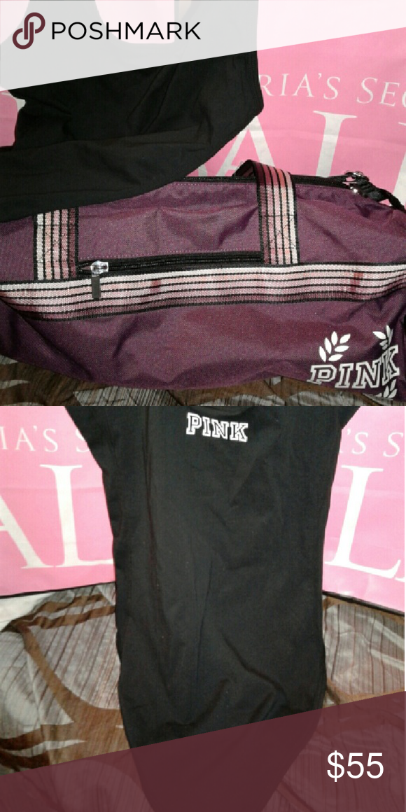 Pink by Victoria's Secret bundle Brand new with tags duffle bag and body suit. Body suit is an xs. PINK Victoria's Secret Bags Totes