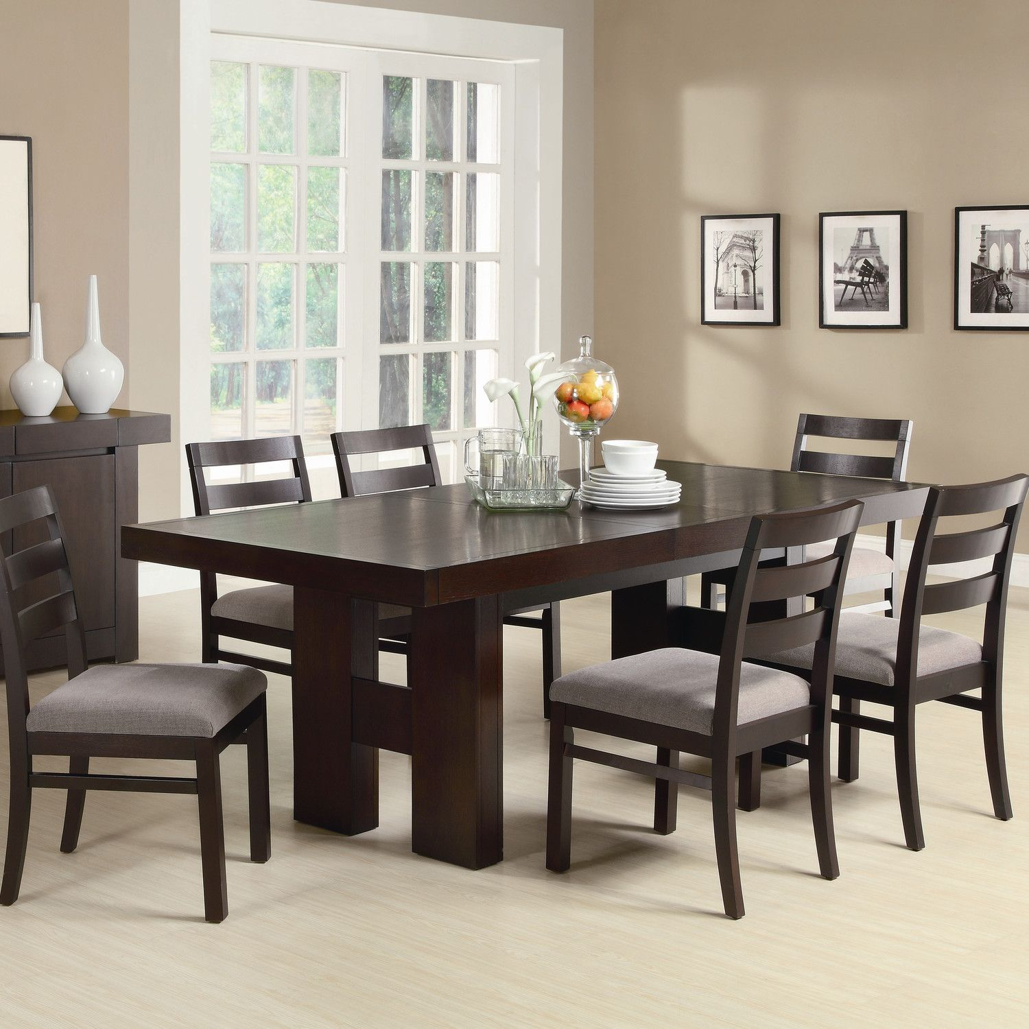 Gertrude Solid Wood Dining Table Dark Wood Dining Table Dining