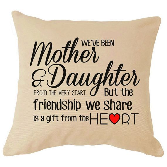 Mother And Daughter Perfect Mothers Day Cushion Gift For