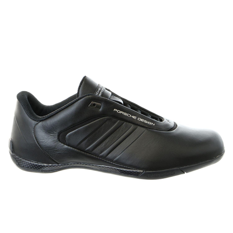 Porsche Design M Athletic III Leather Fashion Sneaker Driving Shoe Black Mens