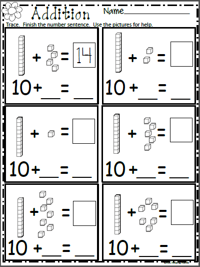 Free Math Addition Worksheet For Kindergarten Made By Teachers Kindergarten Addition Worksheets Spring Math Worksheets Math Addition Worksheets