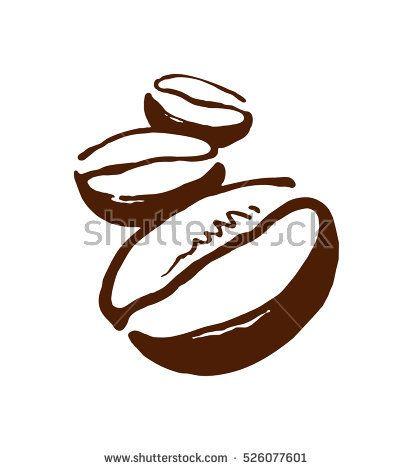 Coffee Bean Vector Image Laconic Picture Of Coffee Desenho De