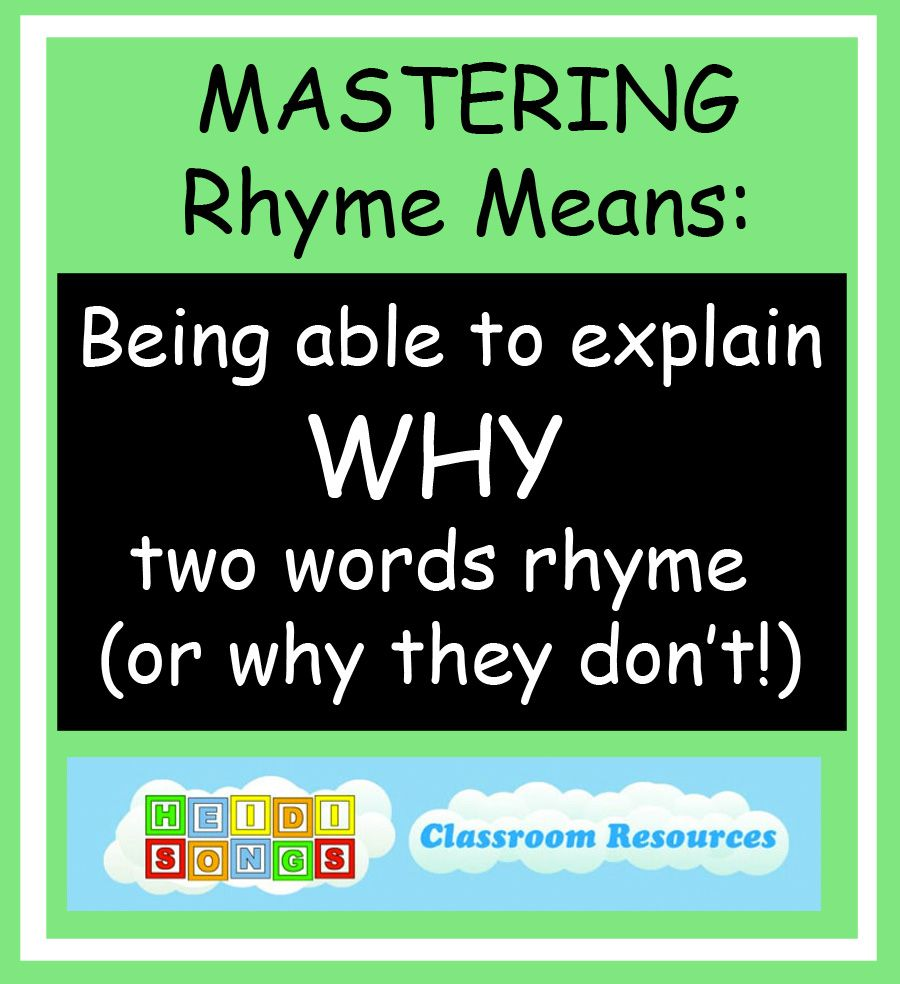 Rhyming Songs Teaching Children To Master Rhyme Through Music And More Rhyming Words Kindergarten Rhyming Words Ryming Words