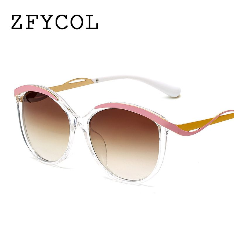 2927c58a0c75 ZFYCOL Oversized Sunglasses Women Brand Designer 2017 UV400 Brown Vintage  Luxury Goggles Fashion Ladies Sun glasses