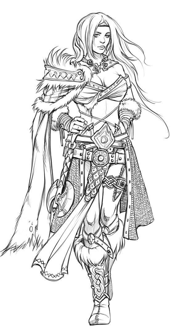 Resultado De Imagem Para Warrior Character Sketch Dibujo