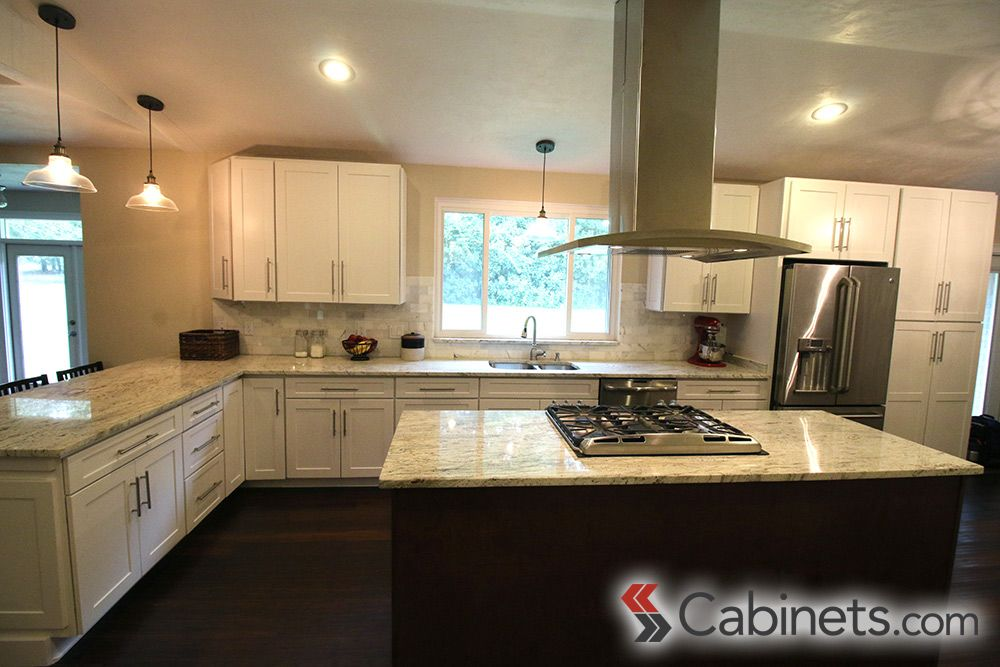 A Clean, Classic Kitchen Featuring Our Titusville RTA Shaker Maple White  Cabinets.