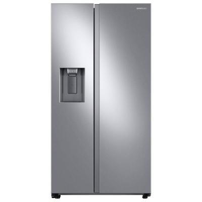 Samsung 27 4 Cu Ft Side By Side Refrigerator In Fingerprint Resistant Stainless Steel Rs27t5200sr The Home Depot In 2020 Side By Side Refrigerator Counter Depth Refrigerator Energy Star Refrigerator