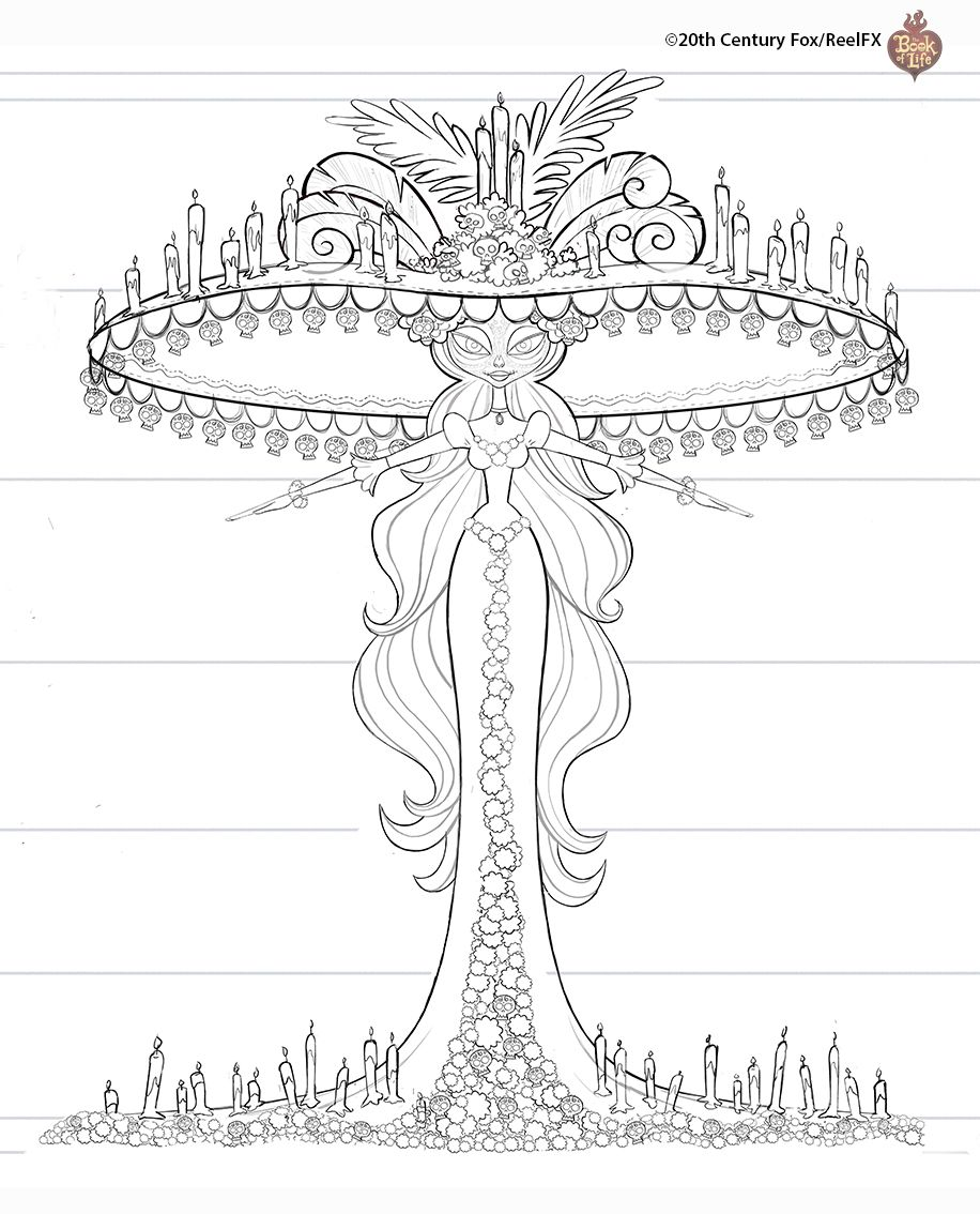 Alisketch Book Of Life Art Blog Coloring Pages