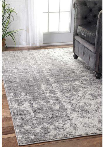 Zipcode Design Bloom Gray Area Rug Rug Rugs In Living Room Grey