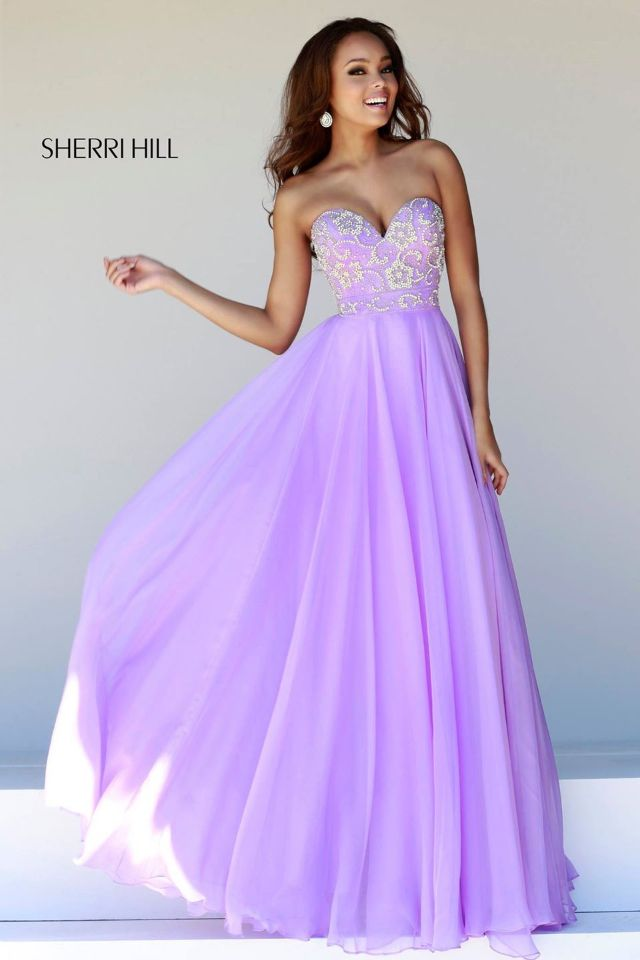 Love this lavender prom dress by Sherri hill. such a beautiful color ...