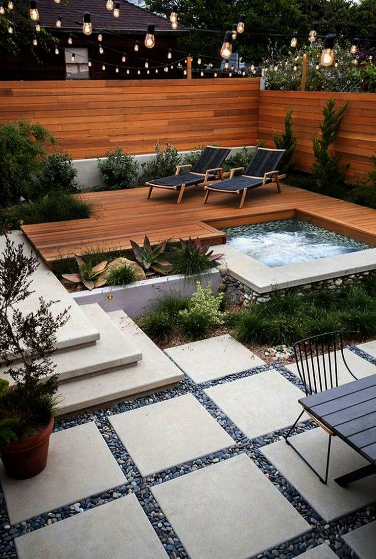 Pin On Garden Small backyard landscaping ideas with pool